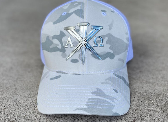 33AD Christian brand military Multi-Cam trucker cap