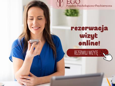 System e-rezerwacji wizyt Poradni EGO