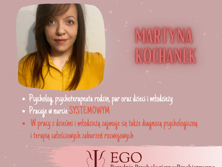 Martyna Kochanek nowym specjalistą w Poradni EGO