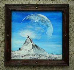 Zermatt avec la lune