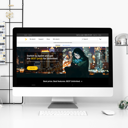 Sprint Unlimited Plans Landing Page