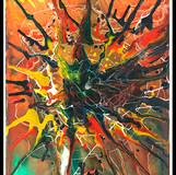 """Splash IV (after Moholy Nagy """"Telephone Painting""""), 1984/2015"""