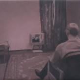 Study for Man Watching T.V. (pink), 2003
