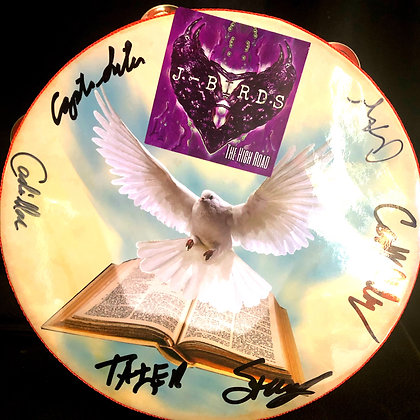 "Free shipping ""Burn Bight"" signed tambourine"