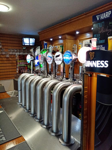 Selection of Draught Beer in Clubhouse