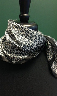 SILK SATEN MIX -ZEBRA SCARF - ITEM # A-40