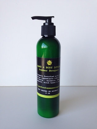 SUMMER BOUQUET  HAND BODY & FOOT LOTION-8 OZ