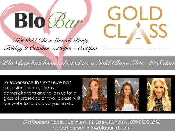 The absolute best hair extensions have arrived in Buckhurst Hill. You are invited to our Gold Class