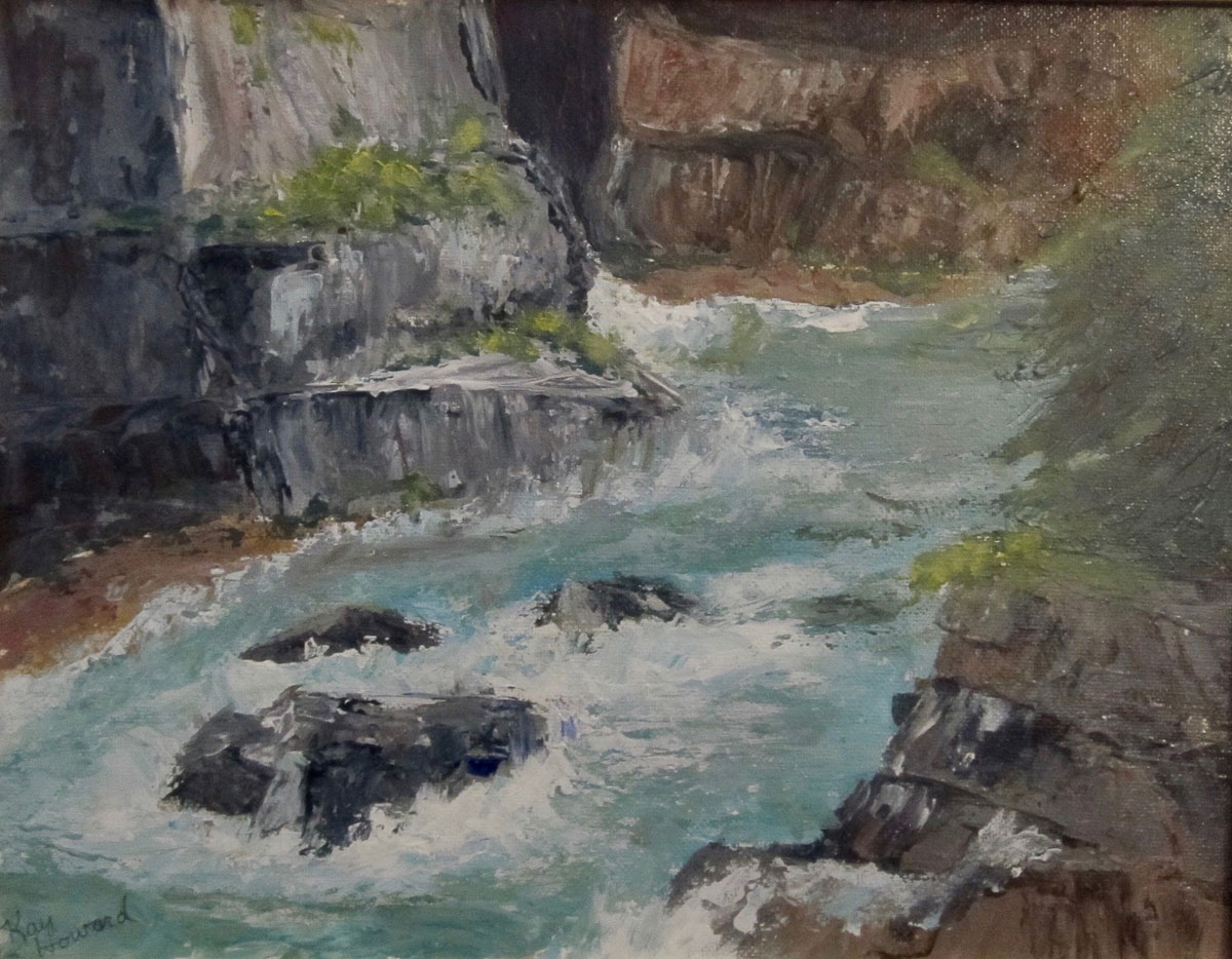 Rushing Water on the way to Whistler by Kay Howard