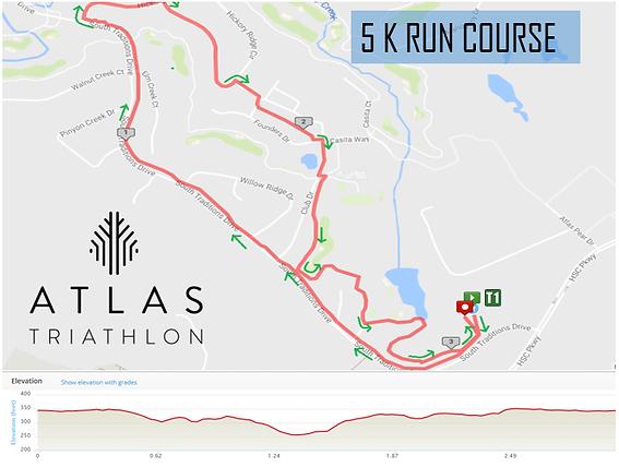 ATLAS Triathlon, USA Triathlon, Map