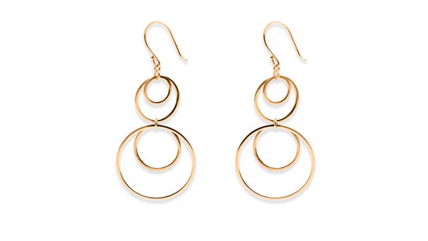 Kerr Rose Gold Multi Circle Earrings