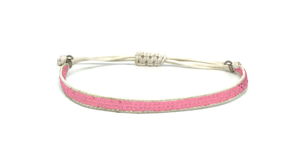Jive Pink Beaded Friendship Bracelet