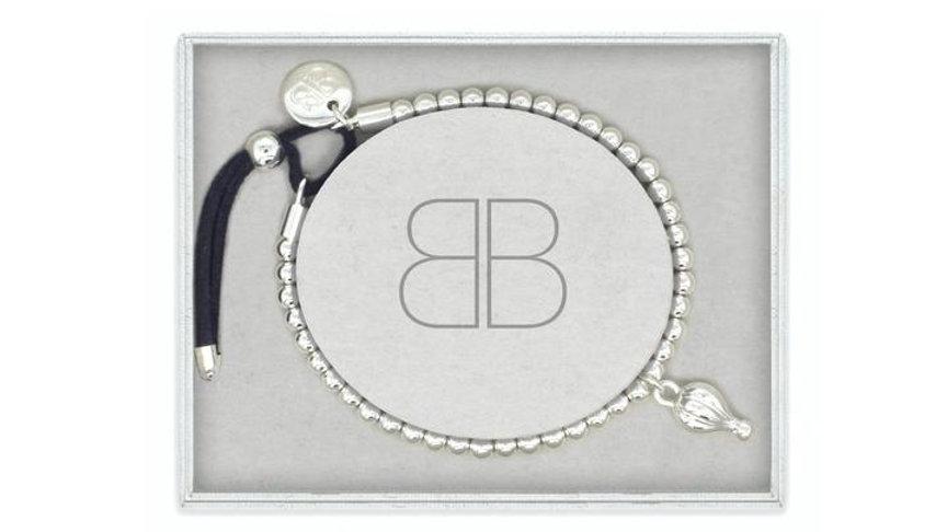 Lambada Navy & Silver Stretch Bracelet Gift Set