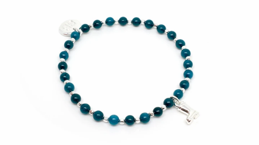 Sitar Teal Stretch Bracelet