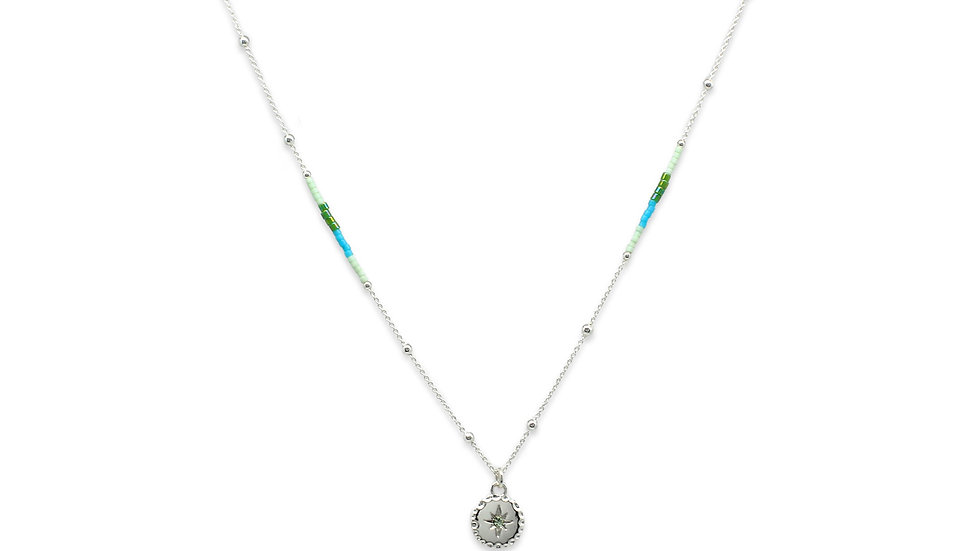 Galateia Mint Starburst Beaded Necklace