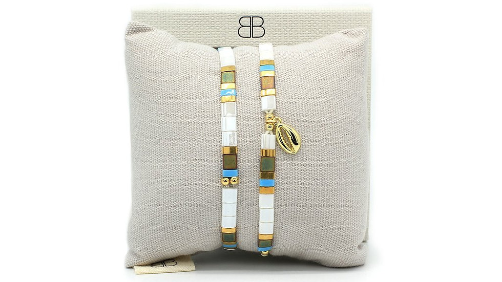 Ballenas Gold 2 Layered Bracelet Stack
