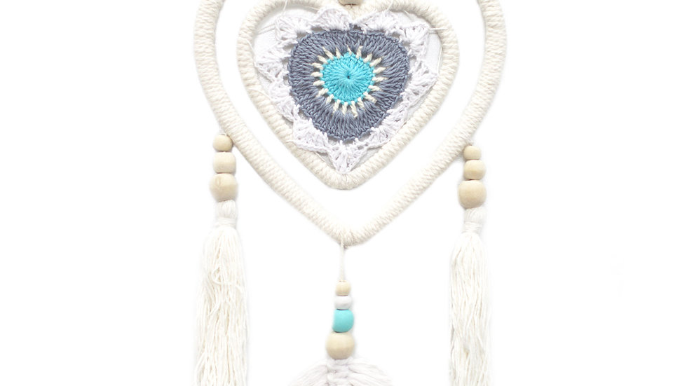 Dream Catcher Blue Heart in Heart