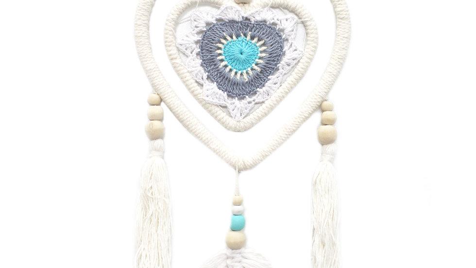 Dream Catcher Blue Heart in Heart