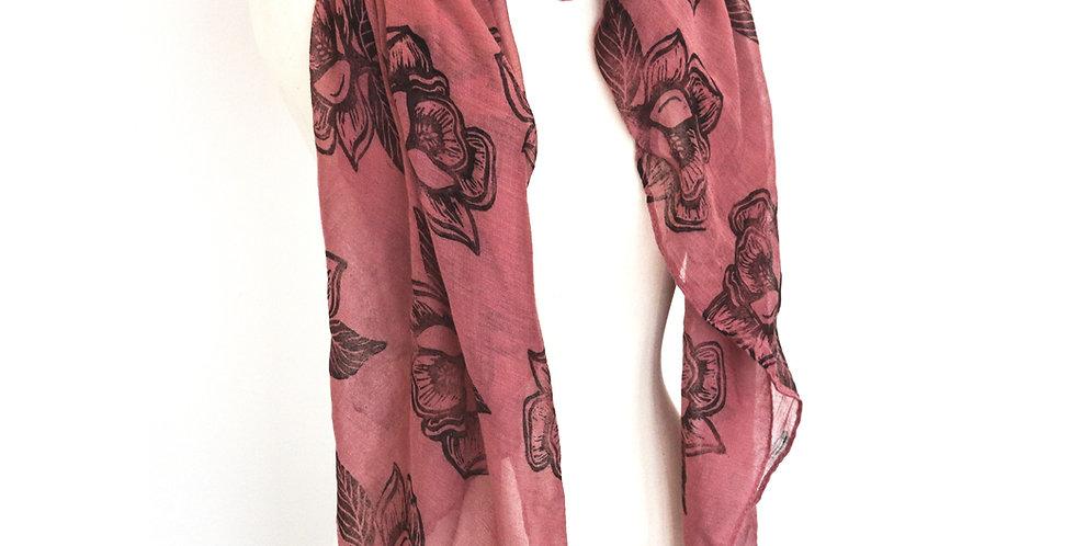 Magnolia Print Scarf