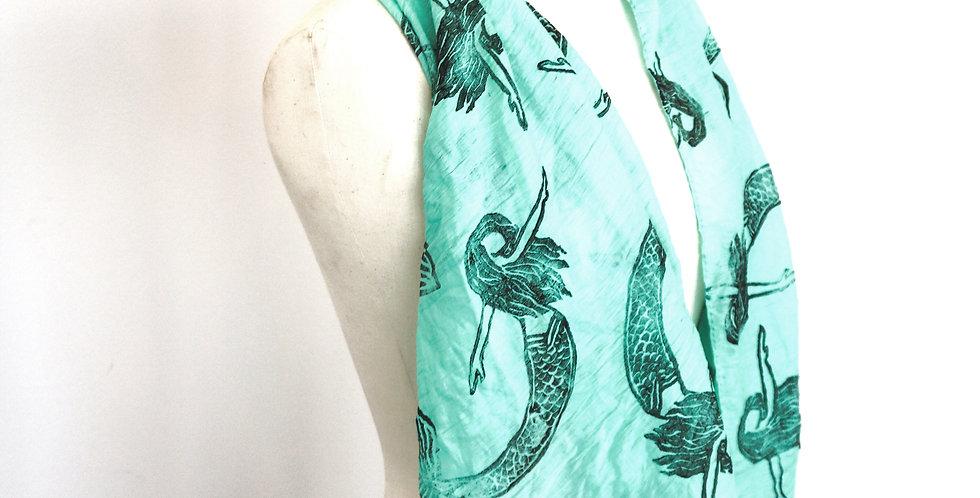 Mermaid Print Scarf