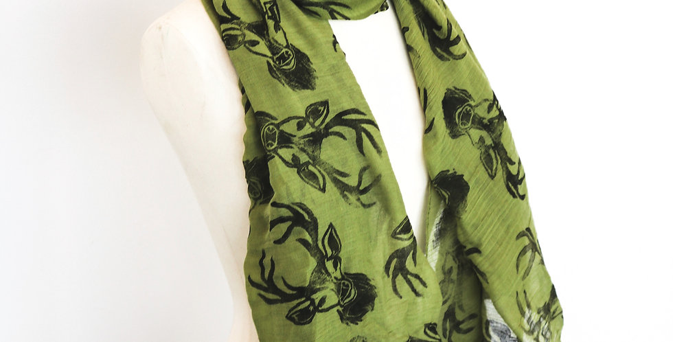 Stag Print Scarf