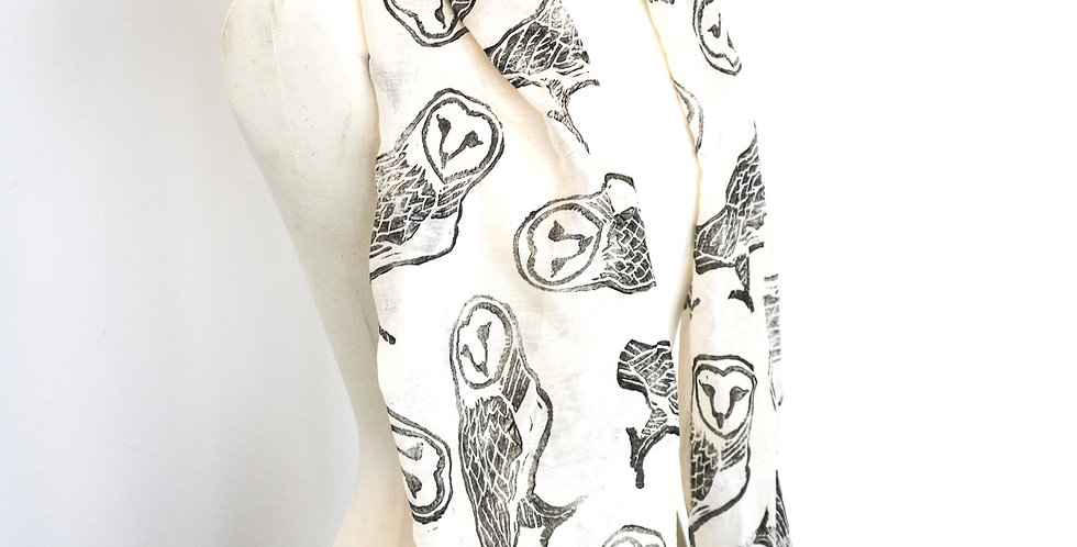 Owl Print Scarf