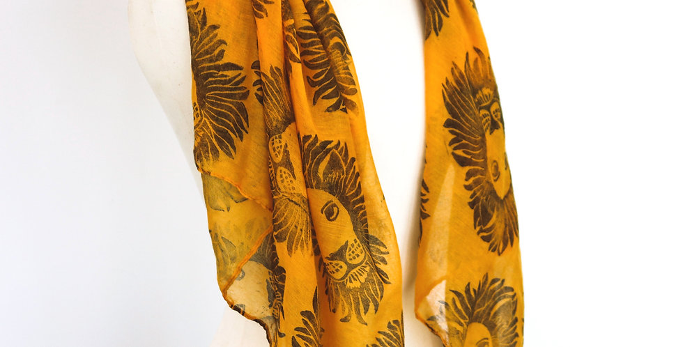 Lion Print Scarf