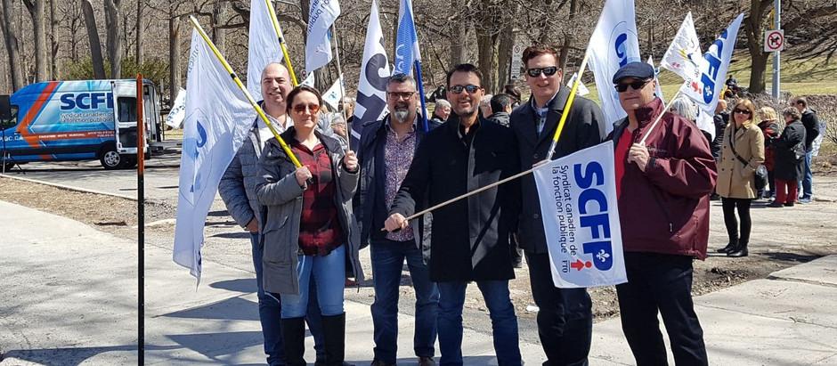Appuis aux grévistes de l'université de Montréal