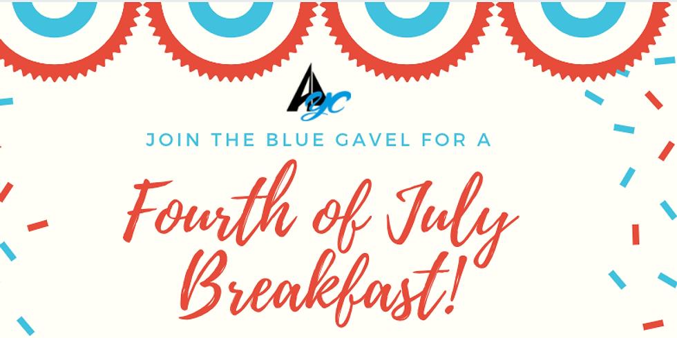 Blue Gavel 4th of July Breakfast