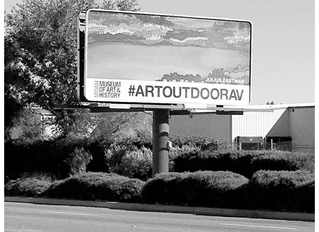 Lancaster Art Museum using Billboards to Display Artwork