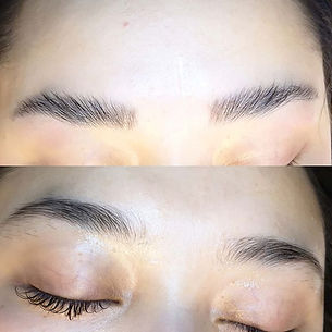 Before and after brow lamination #lashes