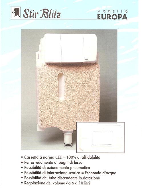 Cassetta mod. Europa con placca, canotto,rosone e tubo di discesa (cod. 9600141)