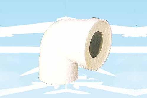 Curva wc corta 90° (cod. 3930012)