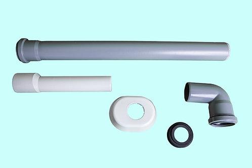 Kit tubo discendente Stir 12 completo di canotto e rosone bianco (cod. 893009)