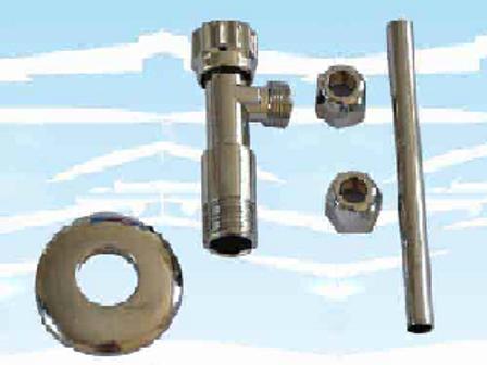 Kit rubinetto d'arresto cromato (cod. 8600100)