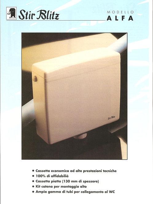 Cassetta di scarico a zaino modello Alfa (cod. 7400121)