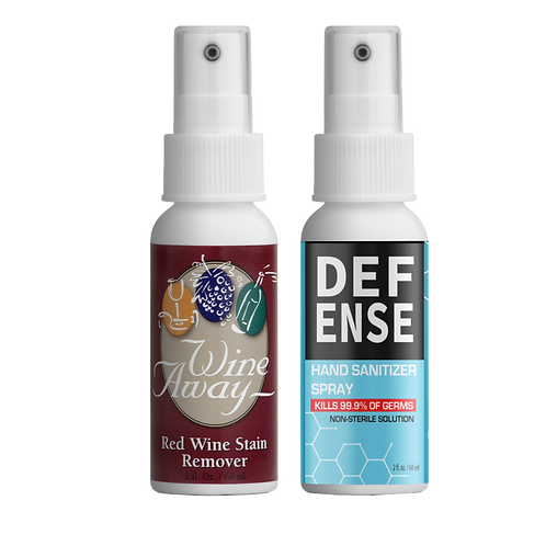 Wine Away® & Defense Travel Size Pack