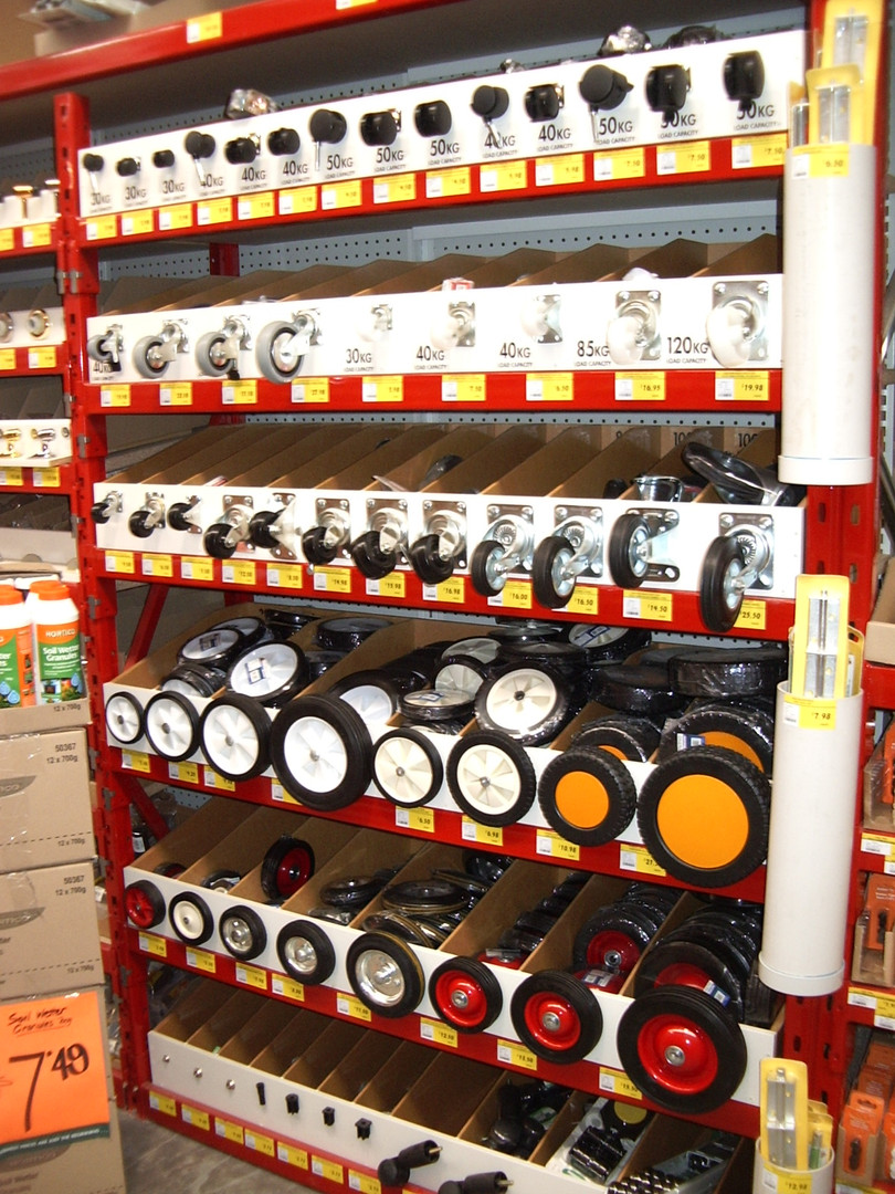 Bunnings Warehouse Wheel Attachment Disp