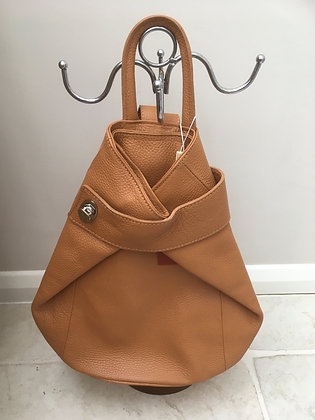 Amelia - Taupe Leather Rucksack
