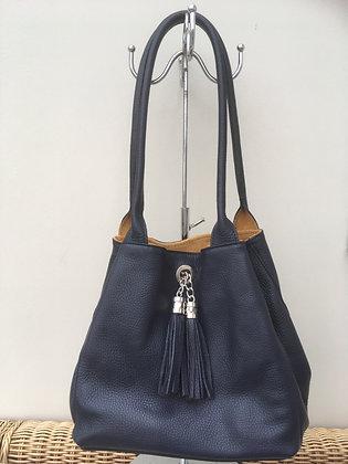 Palma reversible handbag - Navy