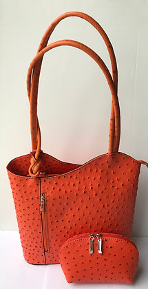 Gift Set Megan  Leather Rucksack & Cosmetic Bag Gift Set