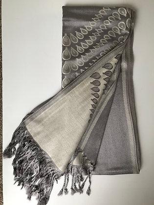 Silver 'swirl' scarf (16)