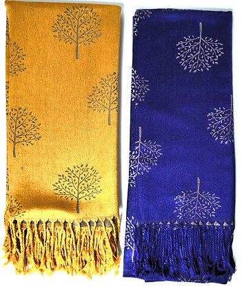 Gold and Purple Tree of Life Scarves (7/8)