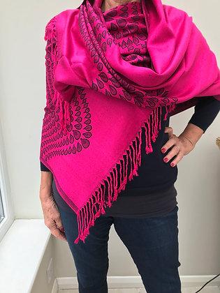 Cerise Pink Pashmina/Scarf (No 2)