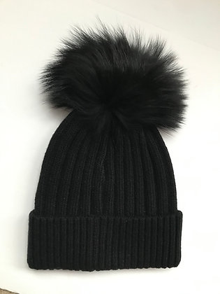 Navy Bobble Hat