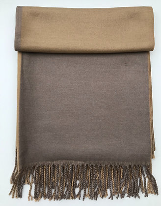Two Toned Coffee and Taupe Pashmina