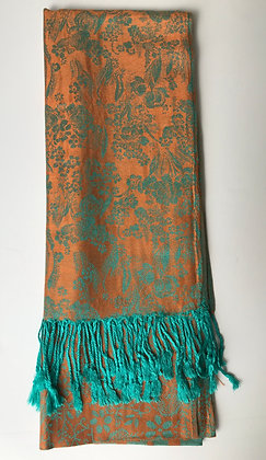 Teal and Orange Scarf (No 4)