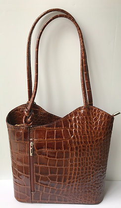 Megan Tan Patent Leather