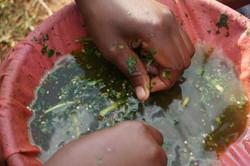 Filtering pesticide