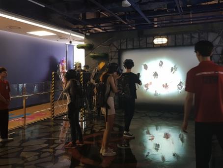 [르포] '롯데 몬스터 VR' 가보니…백화점에서 만나는 신개념 놀이공원